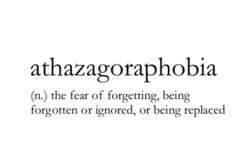 athazagoraphobia 