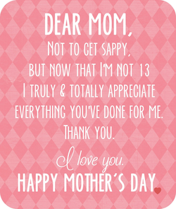 DEAR MOM, 