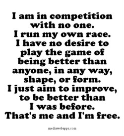 1 am in competition 