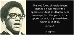 The true focus of revolutionary 