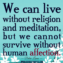 We can live 