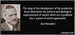 The stage of the development of the productive 