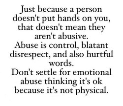 Just because a person 
