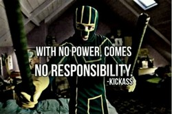 WITH NO POWERI COMES 