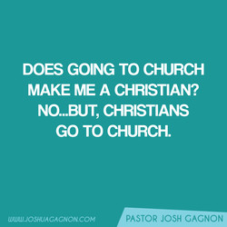DOES GOING TO CHURCH 