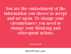 You are the embodiment or the 