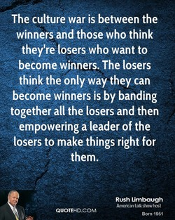 The culture war is between the 
