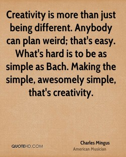 Creativity is more than just 