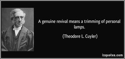A genuine revival means a trimming of personal 