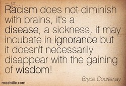 Räcism does not diminish 