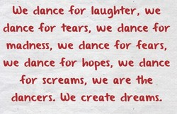 We dance for laughter, we 
