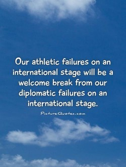 Our athletic failures on an 