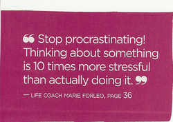 66 Stop procrastinating! 