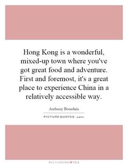 Hong Kong is a wonderful, 