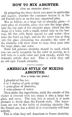 HOW TO MIX ABSINTHE. 