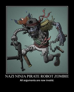 NAZI NINJA PIRATE ROBOT ZOMBIE 