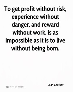 To get profit without risk, 