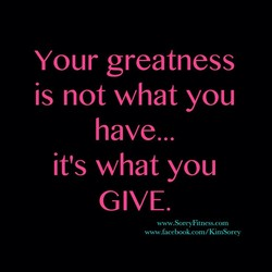 Your greatness 