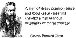 A man OF great common sense 