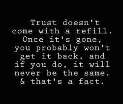 Trust doesn't 