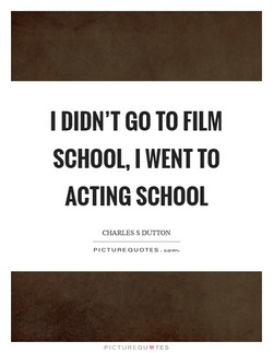 I DIDN'T GO TO FILM 