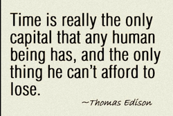 Time is really the only 