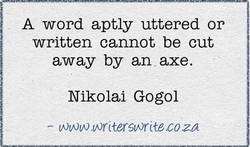 A word aptly uttered or 