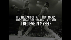 IT'S THE LACK OF FAITH THAT MAKES 