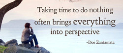 Taking time to do nothing 