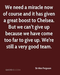We need a miracle now 
