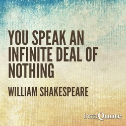 YOU SPEAK AN 