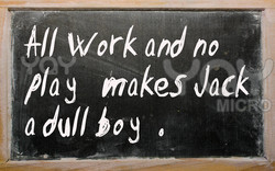 work and no 