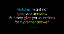 Mistakes might not 