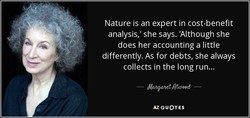 Nature is an expert in cost-benefit 