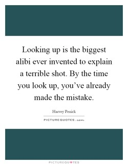 Looking up is the biggest 