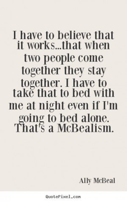 I have to believe that 