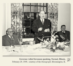 Governor Adlai Steveny)n speaking, Normal, Minois, 
