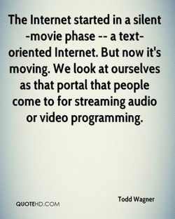The Internet started in a silent 