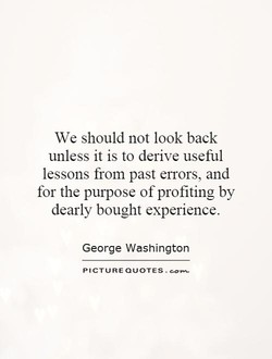 We should not look back 