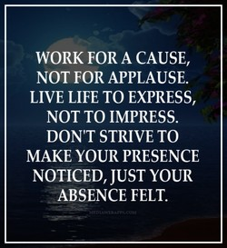 WORK FOR A CAUSE, 
