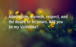 Admtrgtion, Warmth, respect, and 