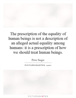 The prescription of the equality of 