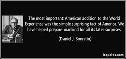 The most important American addition to the World 