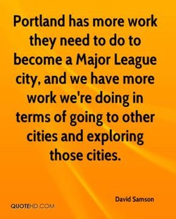 Portland has more work 