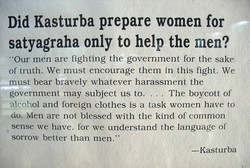 Did Kasturba prepare women for 