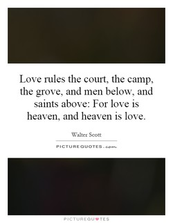 Love rules the court, the camp, 