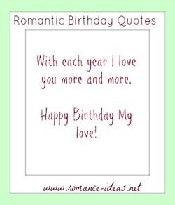 Romantic 3irthdau Quotes 