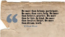DO more than belong: arlieipale. 