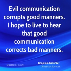 Evil communication 