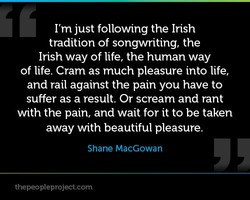 I'm just following the Irish 